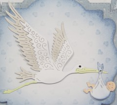 Cheery Lynn Designs die stork and baby 3.25 x 2.875 - tienda online