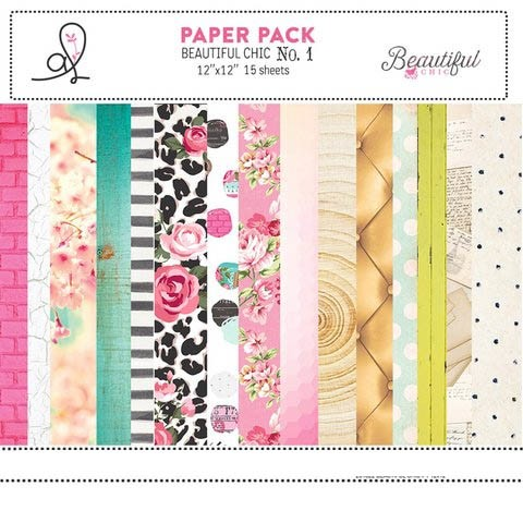 ADRIENNE LOOMAN BEAUTIFUL CHIC PACK N°1 - PACK DE 15 PAPELES 30X30 CM