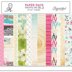 ADRIENNE LOOMAN BEAUTIFUL CHIC PACK N°2 - PACK DE 12 PAPELES 30X30 CM
