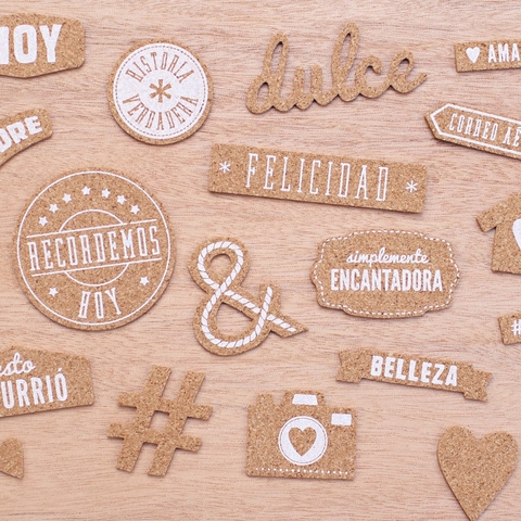 Becky Higgins Project Life Value Kit 147/Pkg en Español con Adornos de Corcho en internet