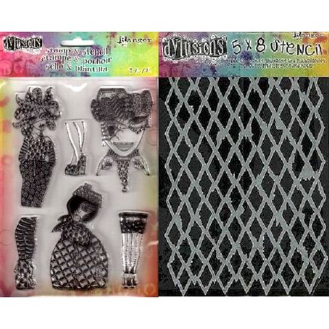 Dylusions Stamp & Stencil By Ranger