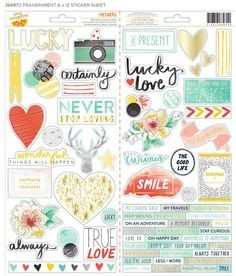 American Crafts Collection Amy Tangerine Stitched Sticker Remarks Accents & Phrase - comprar online