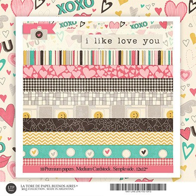 I LIKE LOVE YOU - PACK 12 X 12 - 30X30 DE 19 PAPELES - comprar online