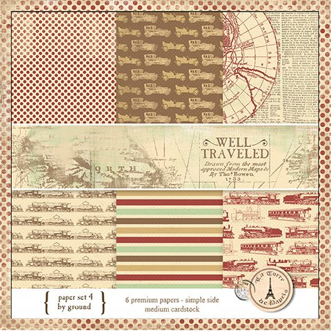 WELL TRAVEL PACK N°4 - PACK DE 6 PAPELES 30X30 CM