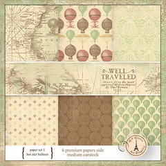 WELL TRAVEL PACK N°1 - PACK DE 6 PAPELES 30X30 CM