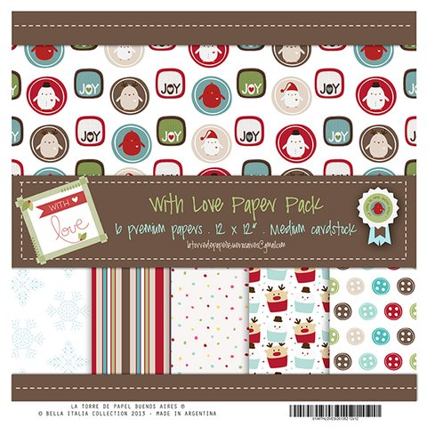 WITH LOVE - PACK DE 6 PAPELES 30X30 CM