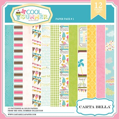CARTABELLA COOL SUMMER PACK 1 - 12 PAPELES DE 30X30