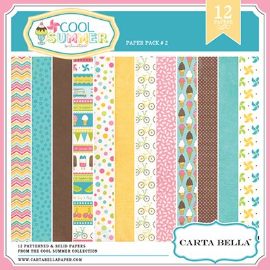 CARTABELLA COOL SUMMER PACK 2 - PACK DE 12 PAPELES DE 30X30