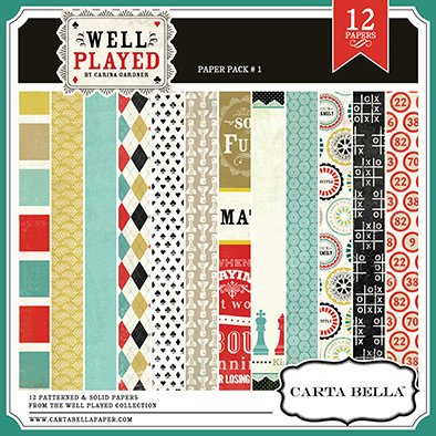 CARTABELLA WELL PLAYED PAPER PACK 1 - PACK DE 12 PAPELES 30x30 CM