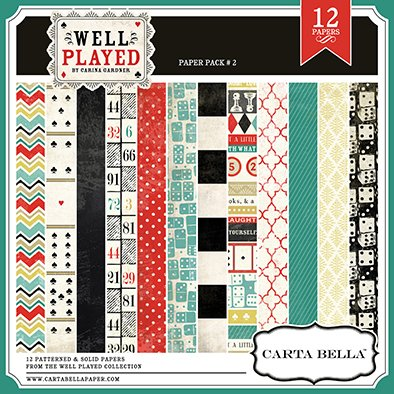 CARTABELLA WELL PLAYED PACK 2 - PACK DE 12 PAPELES 30x30 CM