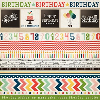 Imagen de Echo Park IT'S A CELEBRATION PACK 2 - PACK DE 12 PAPELES DE 30X30