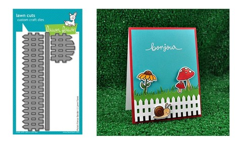 Lawn Fawn Cuts Custom Craft Die Picket Fence / Cortante Cerca de Jardín - comprar online