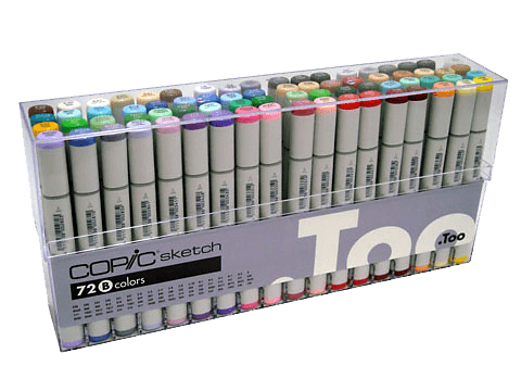 Copic Sketch Markers Set B 72/Pkg / Set B de 72 Marcadores Copic Sketch
