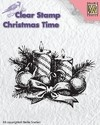 "Nellie´s Snellen clear stamp Christmas time ""candles"" / Sello Velas"
