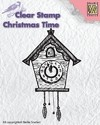 "Nellie´s Snellen clear stamp Christmas time ""clock"" / Sello Reloj cu-cu de Pared"
