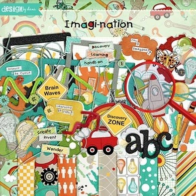 IMAGINATION - PACK DE 10 PAPELES 30x30 CM