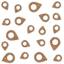 Essentials Cork Shapes Geotags 25/Pkg en internet