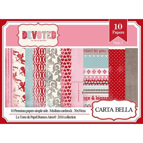DEVOTED PACK N°2 - PACK DE 10 PAPELES 30X30 CM