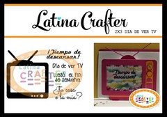 LATINA CRAFTER CLEAR STAMP DIA DE VER TV