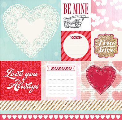 LUCKY IN LOVE - PACK DE 14 PAPELES 30X30 CM en internet