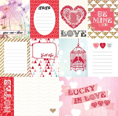 LUCKY IN LOVE - PACK DE 14 PAPELES 30X30 CM