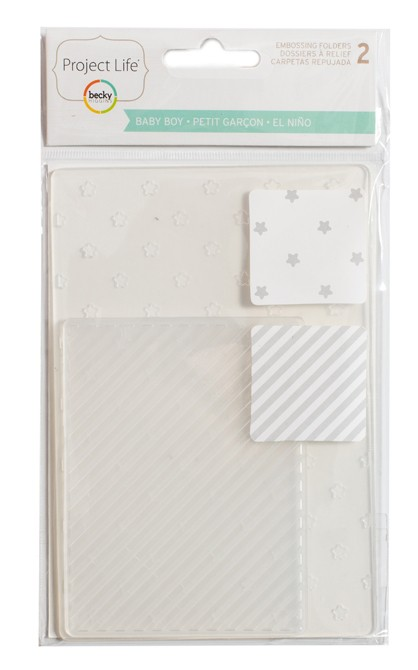 BABY BOY EDITION - EMBOSSING FOLDER - 3 X 4 & 4 X 6 (2 PIECE) - comprar online