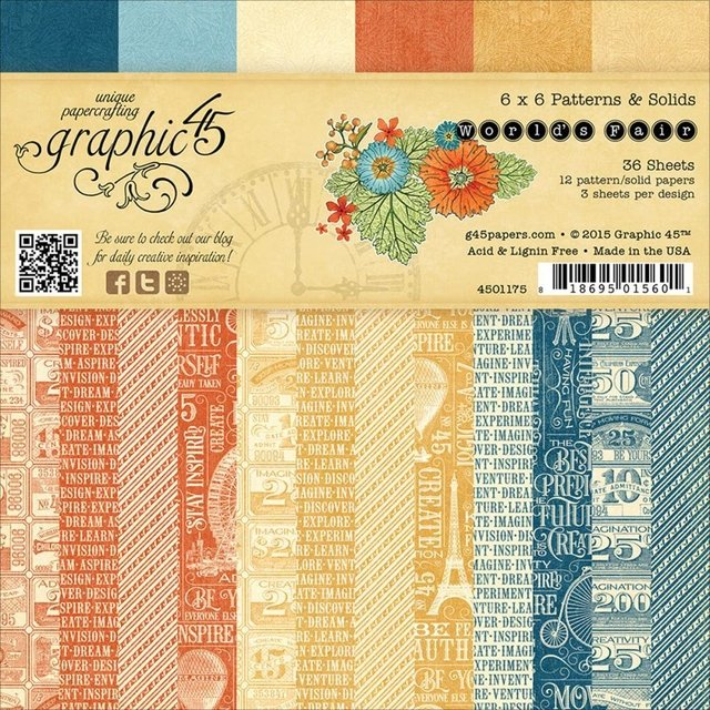 Graphic 45 Collection 6x6 World fair
