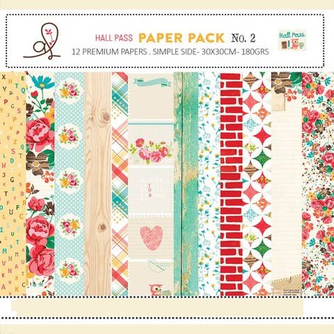 ADRIENNE LOOMAN HALL PASS PACK N°2 - PACK DE 12 PAPELES 30X30 CM