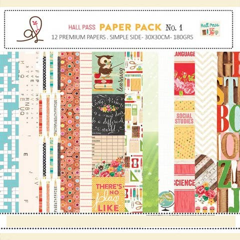 ADRIENNE LOOMAN HALL PASS PACK N°1 - PACK DE 12 PAPELES 30X30 CM