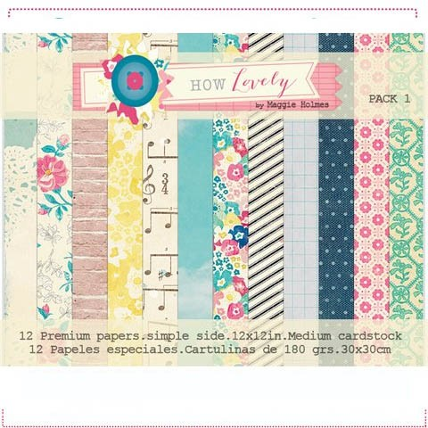 MAGGIE HOLMES HOW LOVELY PACK N°1 - PACK DE 12 PAPELES 30X30 CM
