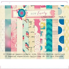 MAGGIE HOLMES HOW LOVELY PACK N°2 - PACK DE 12 PAPELES 30X30 CM