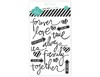 "Heidi Swapp Buzz Words Epoxy Pegatinas Negro y Blanco ""Forever"""