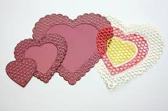 "Cheery Lynn Designs Doily Die Heart To Heart, 5.25""X5"" - Laura Bagnola Crafts"