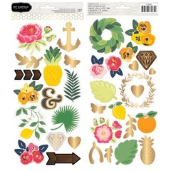 "Jen Hadfield Everyday Cardstock Stickers 6""X12"" 2/Sheets - comprar online"