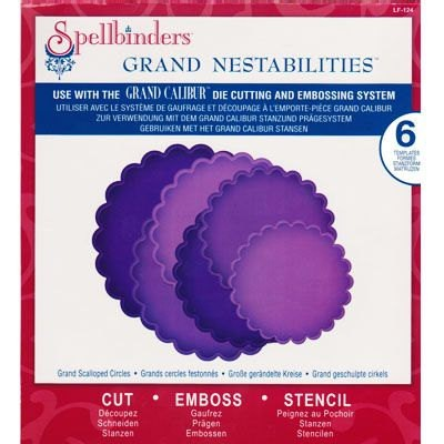 Spellbinders Grand Calibur Nestabilities Dies Scalloped Circles