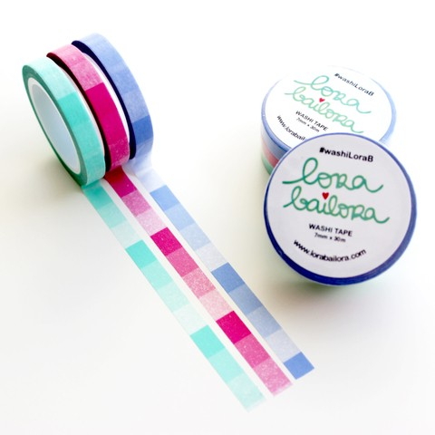 SET WASHI TAPE DEGRADADO SLIM VIBRANTE LORA BAILORA