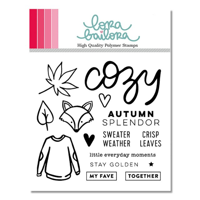 LORA BAILORA SET DE SELLOS ACRILICOS COZY BY IN A CREATIVE BUBBLE en internet