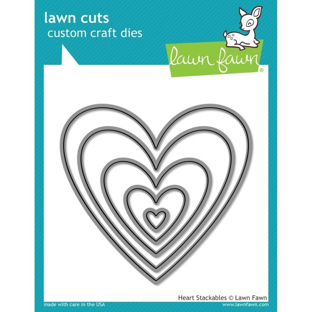 Lawn Fawn Cuts Custom Craft Die Heart Stackables / Cortante Corazones Apilables