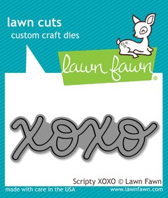 "Lawn Cuts Custom Craft Die / Cortante Lawn Fawn ""XOXO"" - comprar online"