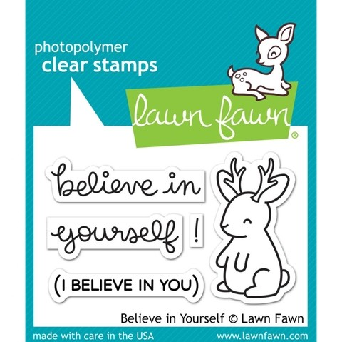 LAWN STAMPS BELIEVE IN YOURSELF