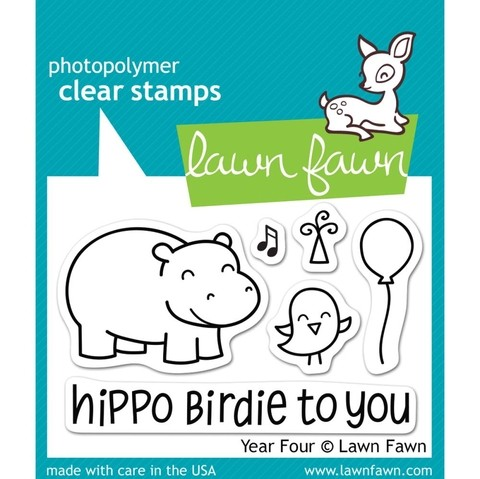 Lawn Fawn Clear Stamp / Sello Transparente Year Four