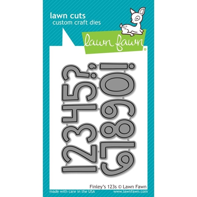 Lawn Fawn Cuts Custom Craft Die Finley's 123's / Cortante Números
