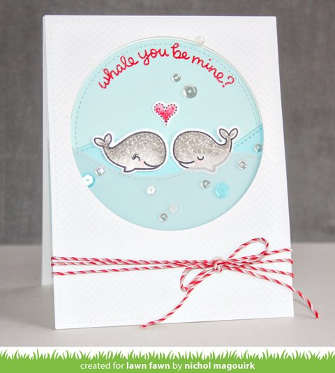 LAWN STAMPS WHALE YOU BE MINE - comprar online