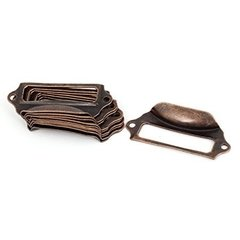 Laura Bagnola Crafts Label Holder Pull / Tirante Porta Etiqueta Metal Bronce Antiguo 7 X 3 cm en internet