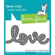 Lawn Fawn Cuts Custom Craft Die Scripty Love / Cortante Texto Amor