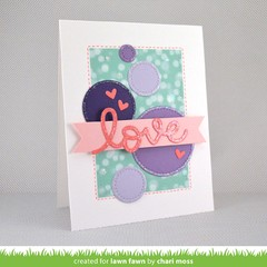 Lawn Fawn Cuts Custom Craft Die Scripty Love / Cortante Texto Amor - comprar online