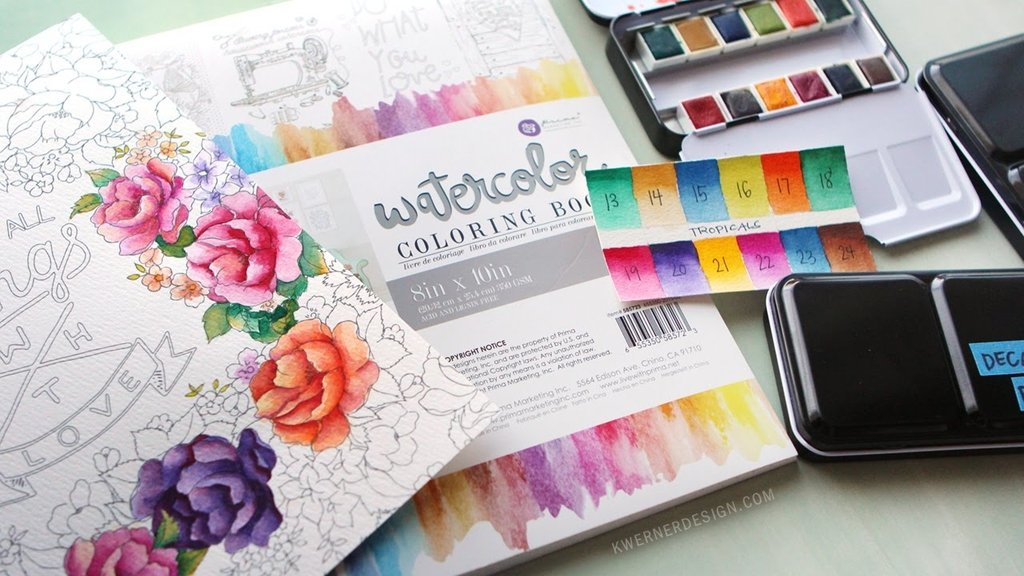 PRIMA WATERCOLOUR DECOR COLOURING BOOK VOL 2