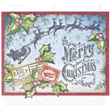 "Tim Holtz Cling Stamps 7""X8.5"" ""Christmas Nostalgia"" en internet"