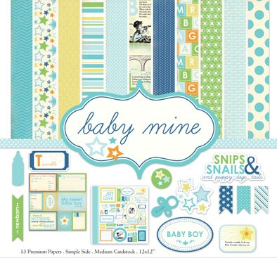 BABY MINE BOY PACK DE 13 PAPELES 30X30CM