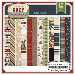 CARTA BELLA WARM & COZY PACK N°1 - PACK DE 12 PAPELES 30X30 CM
